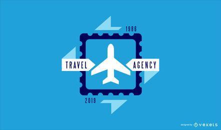 Reisebüro-Geschäft Logo Design