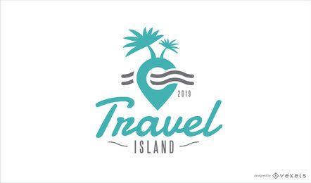 Design de modelo de logotipo de ilha de viagem