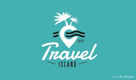 Design do modelo do logotipo da Travel Island