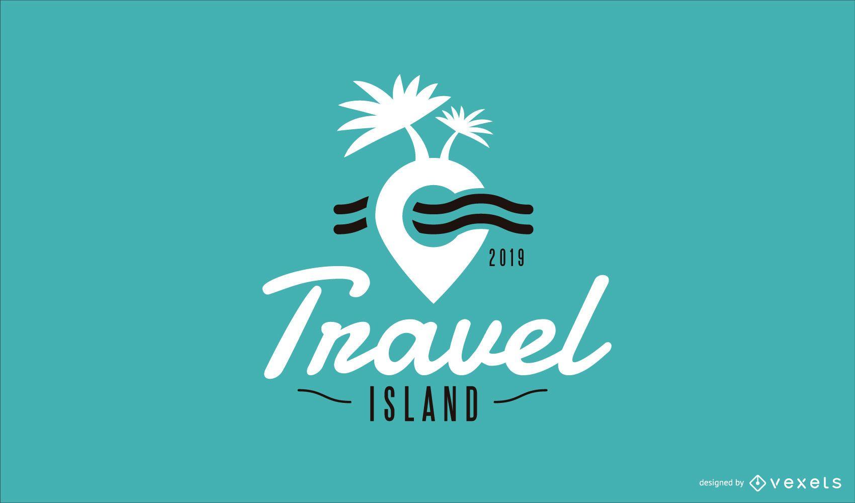 Travel Island Logo Template Design