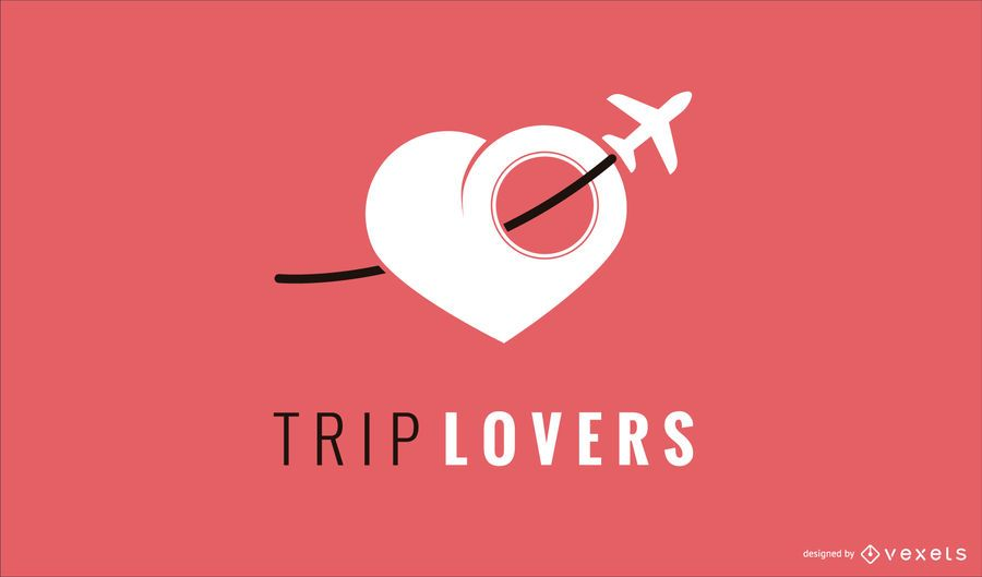 Travel Love Logo Design Template