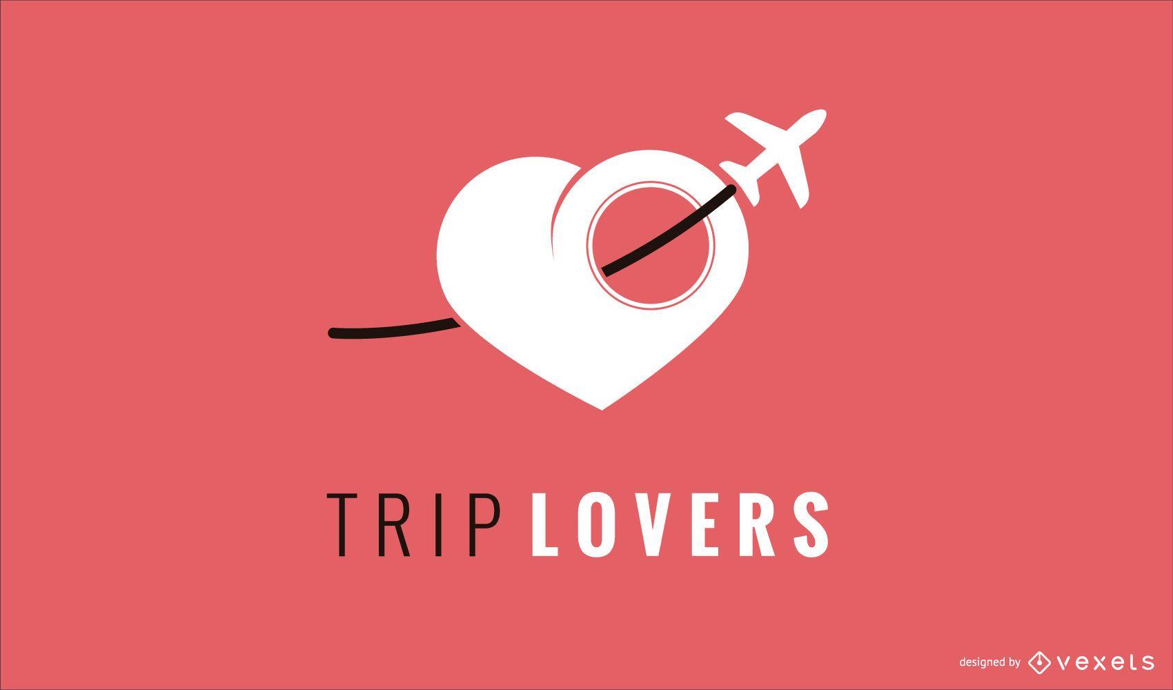 Plantilla de dise?o de logotipo de viaje amor