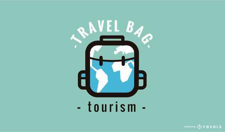 Modelo de design de logotipo de bolsa de viagem