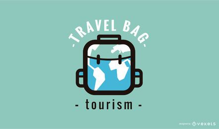 Modelo de Design de logotipo de mala de viagem