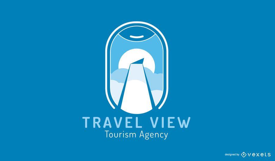 Modelo de Design de logotipo de agência de turismo