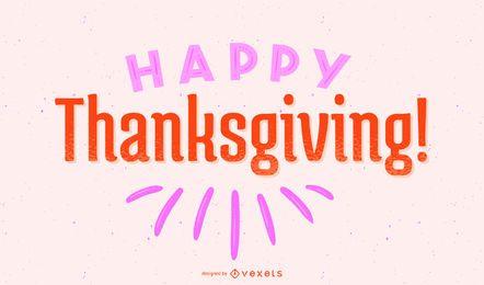 Letras simples de acción de gracias feliz