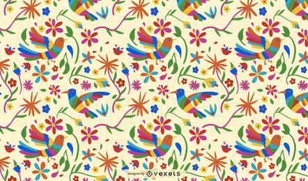 Otomi Bird Pattern Design