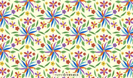 Otomi Flower Pattern Design