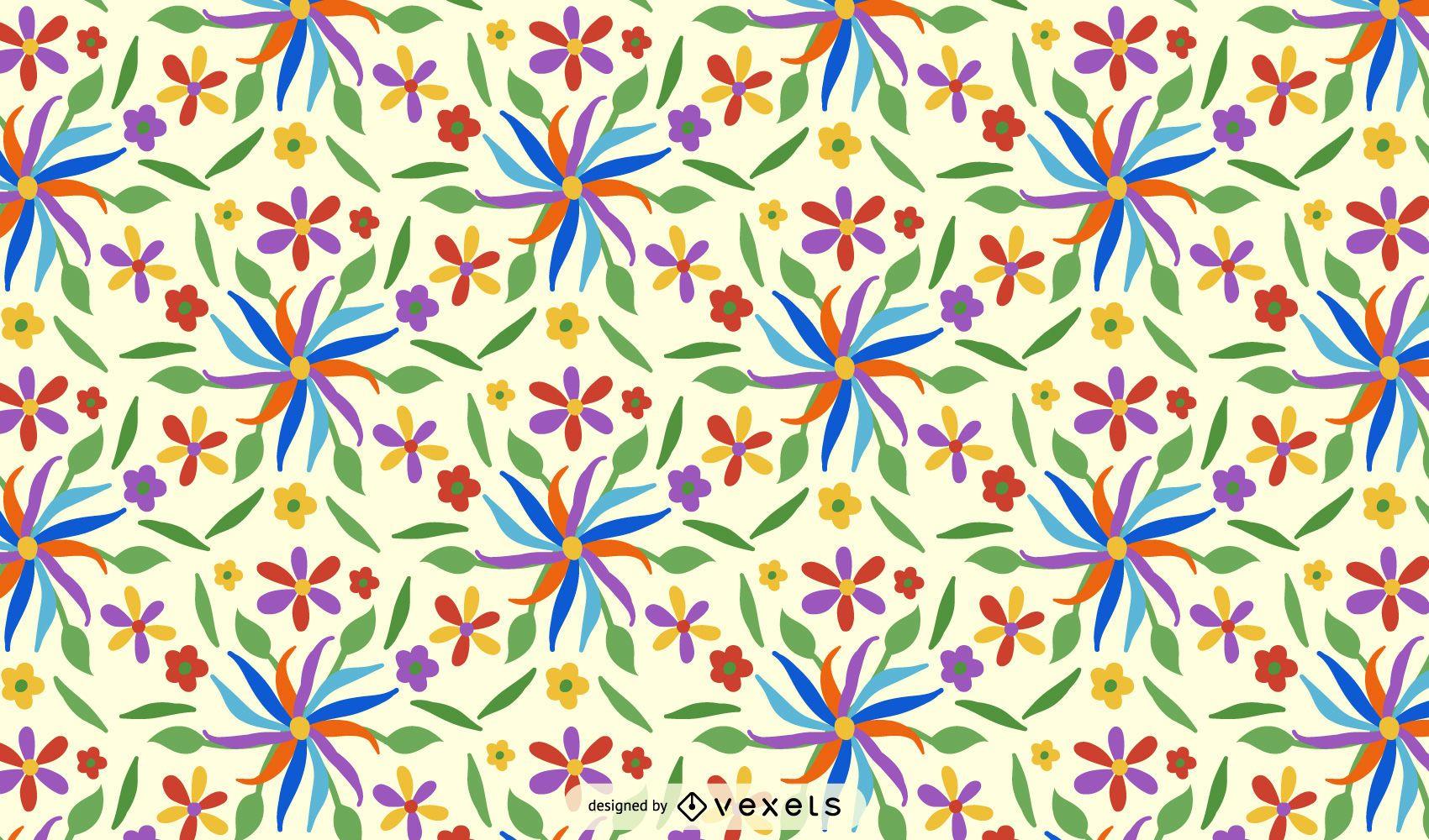Otomi Flower Pattern Design