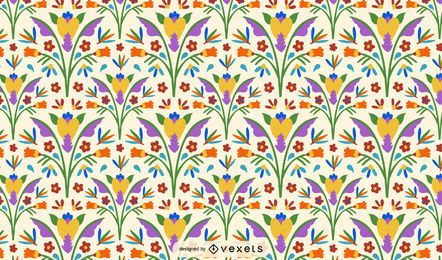 Otomi Style Flower Pattern Design