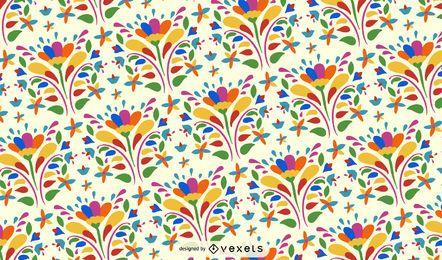 Fondo de patrón de flor otomí