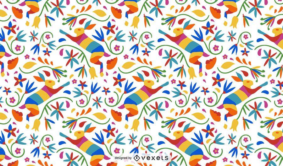 Otomi Style Hare Pattern Design