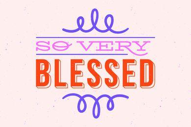 Muy bendecidas letras de acción de gracias