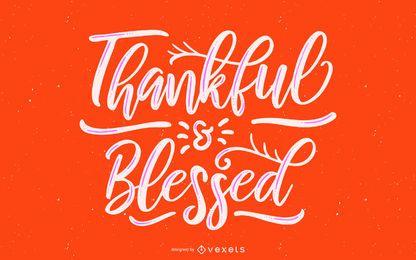 Letras agradecidas e abençoadas