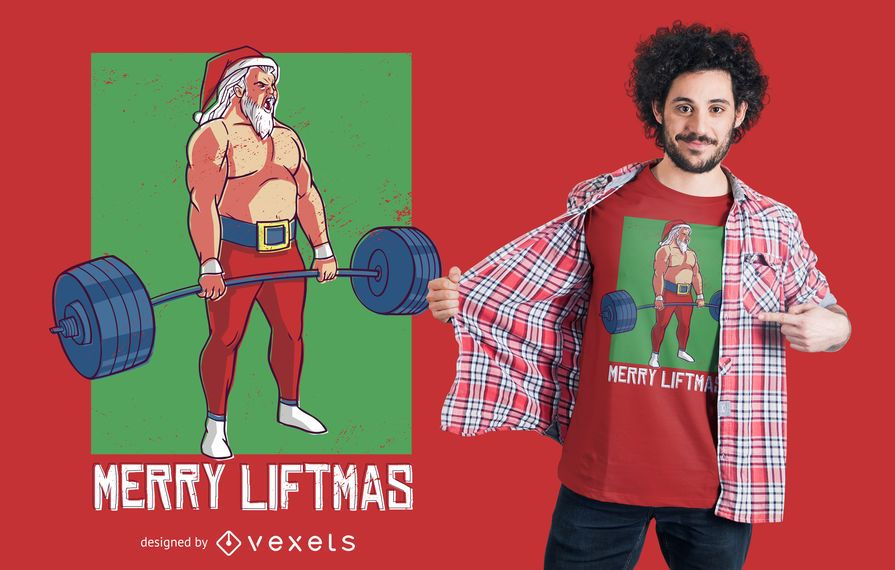 Diseño de camiseta Merry Liftmas