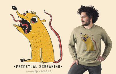 Diseño de camiseta gritando perpetuo