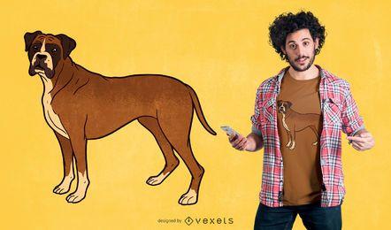 Diseño de camiseta de perro boxer