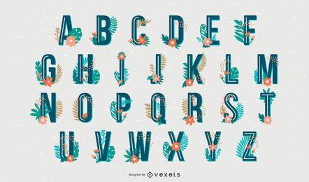 Tropical Style Alphabet Letter Set