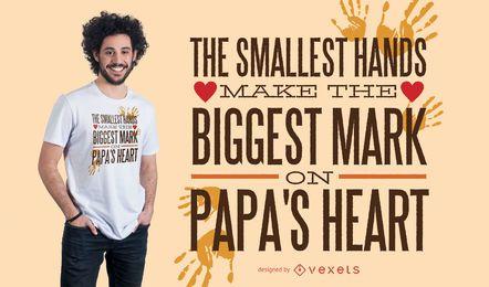 Diseño de camiseta de letras de amor de papá
