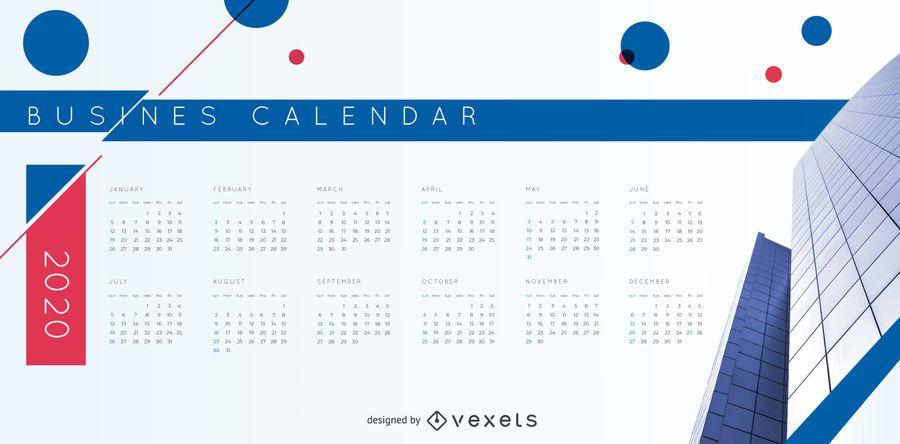 Business Calendar 2020 Vector Design