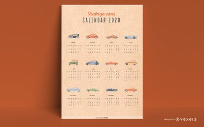 Calendario 2020 autos antiguos