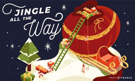 Jingle all the way illustration