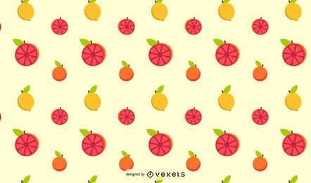 Design de padrão de frutas cítricas