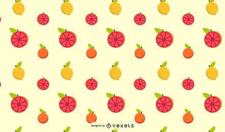 Diseño de patrón de fruta cítrica