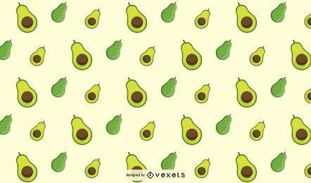 Flaches Avocado-Musterdesign
