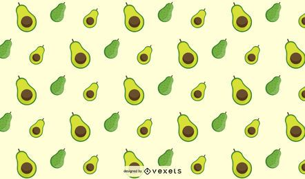 Flat Avocado Pattern Design