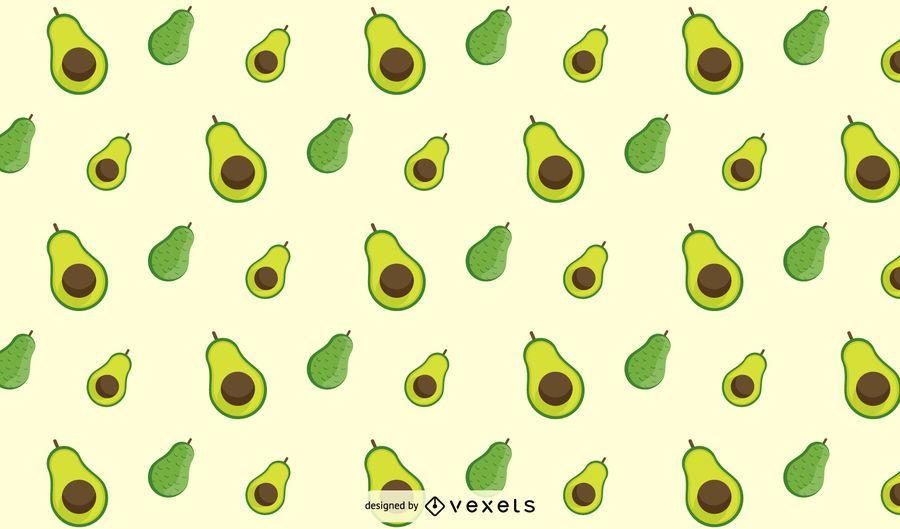 Flat Avocado Pattern Design