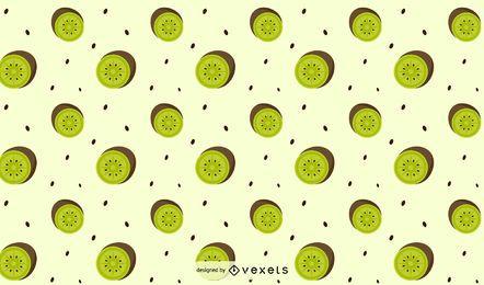 Diseño de patrón de kiwi plano