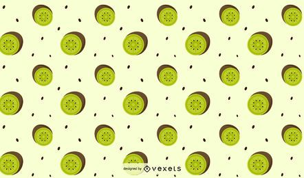 Flaches Kiwi-Muster-Design
