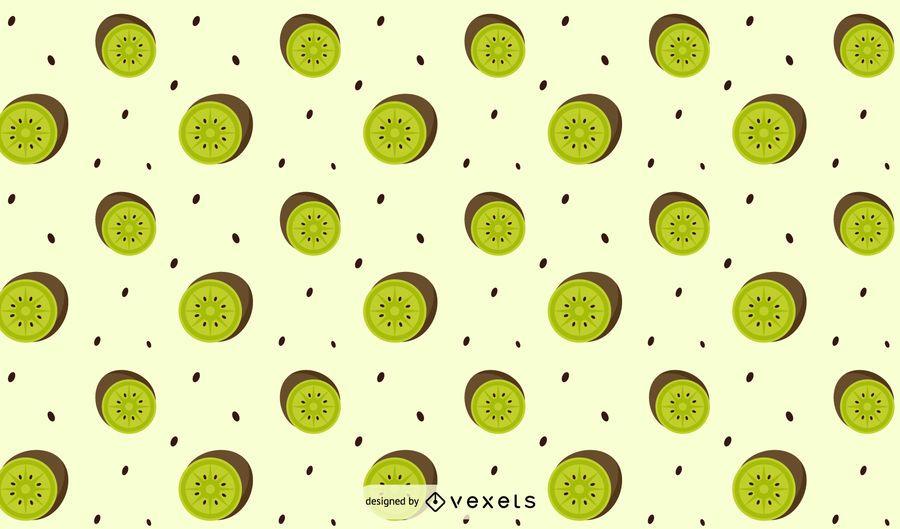 Design de padrão de kiwi plana