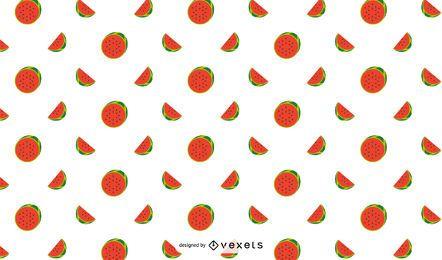 Flaches Wassermelonen-Muster-Design