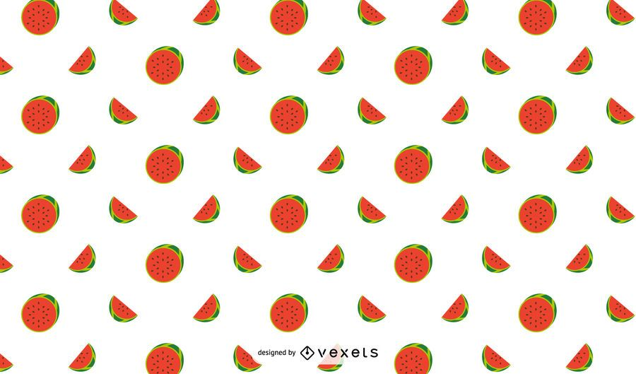 Flat Watermelon Pattern Design