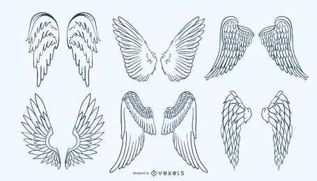 Handdrawn Wing Set