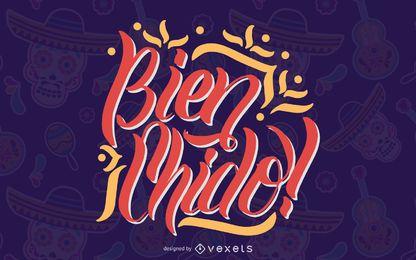 Design de letras de citação mexicana