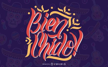 Diseño de letras de cita mexicana