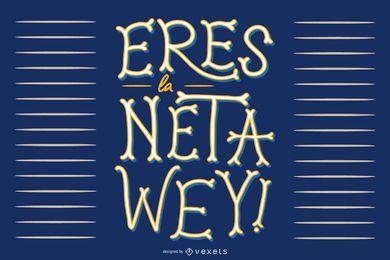 Design de citações espanholas mexicanas
