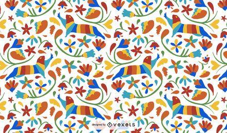 Diseño de patrón de nutria de estilo otomí