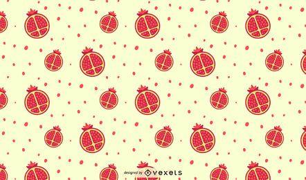 Granatapfel Musterdesign