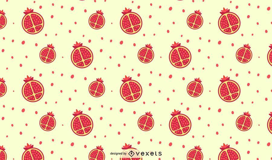 Desenho de padrão de romã