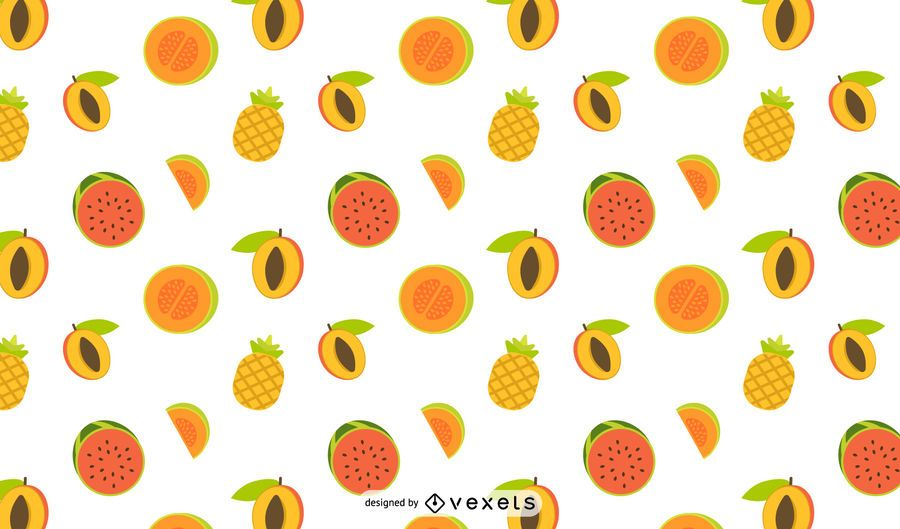 Tropical fruits pattern design