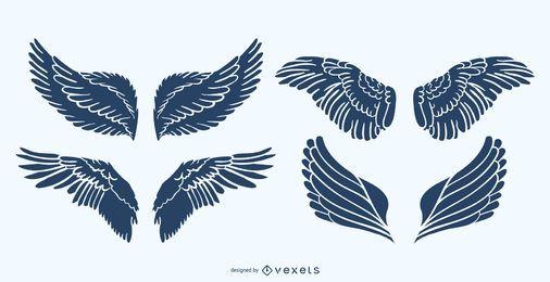 Conjunto de alas de silueta
