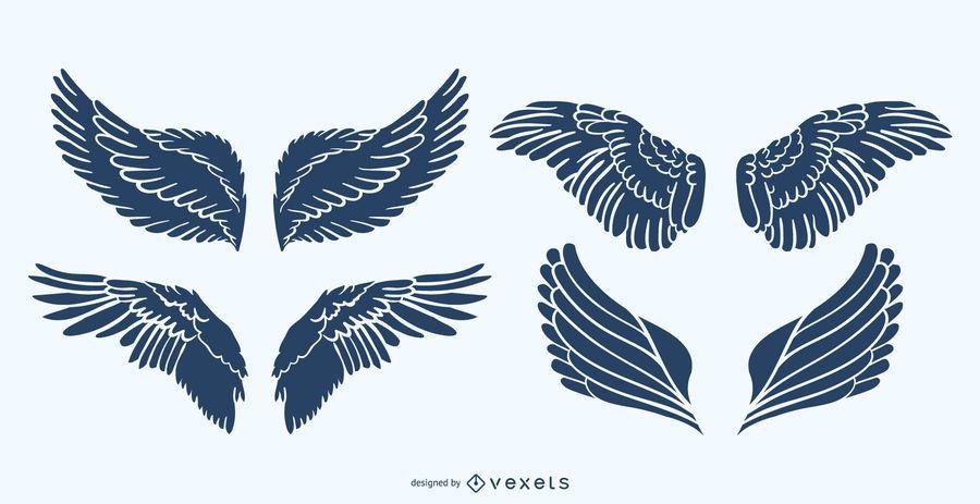 Silhouette wings set