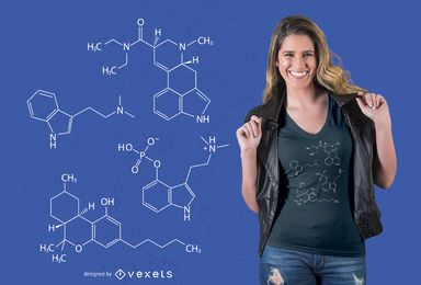 Psychedelic Molecules T-shirt Design