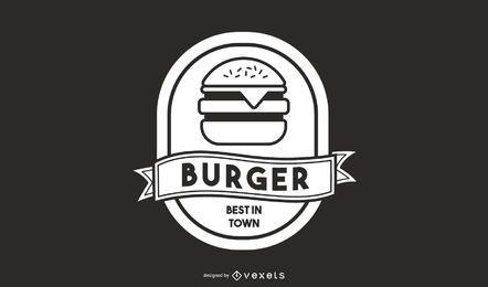 Diseño de logo de hamburguesa