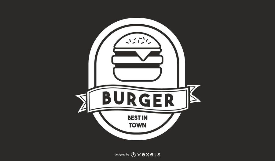 Diseño de logotipo de hamburguesa