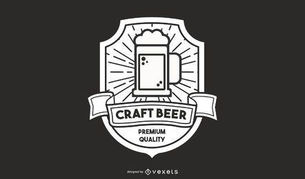 Design de logotipo de cerveja artesanal